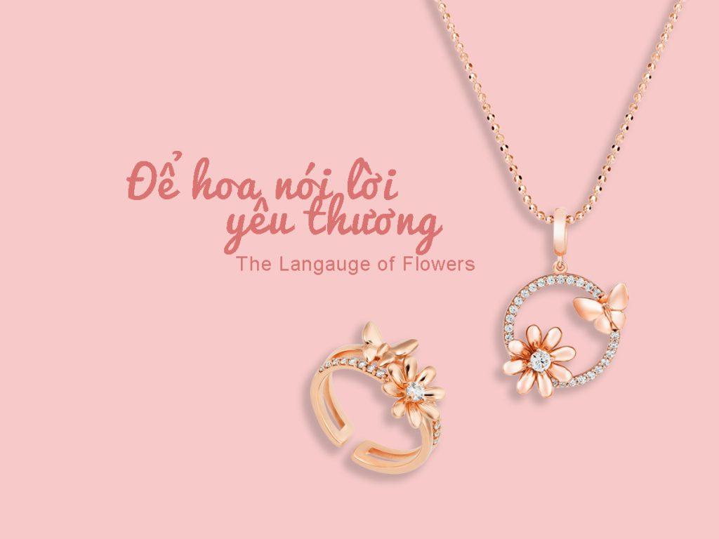 trang suc bac Language of Flowers